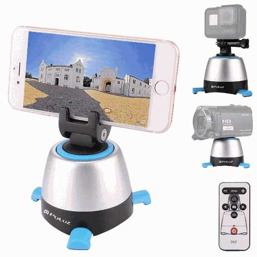 PULUZ® Electronic 360 ° Panorama Tripod Head with Remote for GoPro / Smartphone / Camera