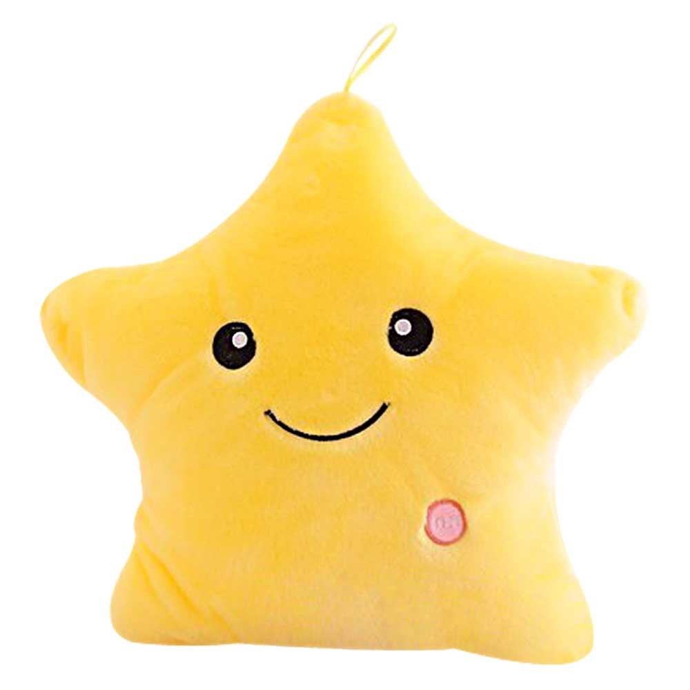 Smiley pillow with LED light / Glow Pillow - Yellow